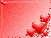 Hearts background Stock Images