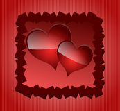 Hearts on background Stock Photos