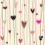 Hearts background stock illustration