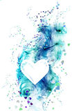 HEARTS background. Blue tones on a white background Royalty Free Stock Photos