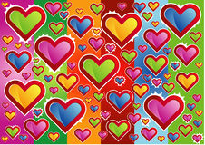 Hearts background. Colorful background with illustrated hearts Royalty Free Stock Photo