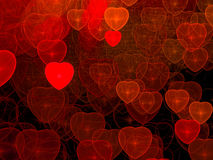 Hearts background - abstract digitally generated image Stock Photo