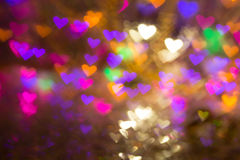Hearts background. Abstract picture on Valentine`s Day and love. Stock Photography
