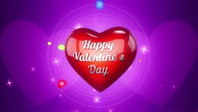 Hearts Background Animation for Valentines Day and Wedding. stock video