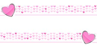 Hearts background, banner, wallpaper Royalty Free Stock Photos