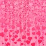 Hearts background. Beautiful rain of hearts pattern Royalty Free Stock Image