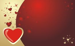 Hearts. Background for card to the Valentine day Royalty Free Stock Photography