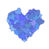 Blue hearts background Stock Photo