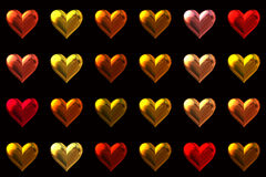 colored hearts background Stock Photo