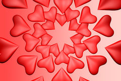 Hearts background. 3d hearts valentines day background stock photo