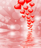 Hearts On Background Displays Valentines Day Or Romanticism Stock Photography