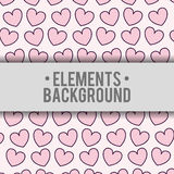 Hearts background elements design Royalty Free Stock Photography