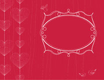 Hearts background with frame Stock Photos