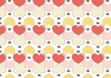Hearts background in ice cream color. A background composition of hearts in ice cream colors Stock Image