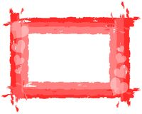Hearts background in red tones isolated. Illustration usable on project about Love or Saint Valetines time Stock Image