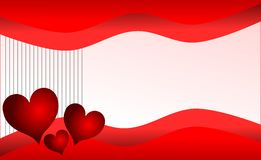 Hearts on colorful background with stripes Stock Photo