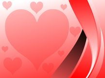love background with hearts Royalty Free Stock Image