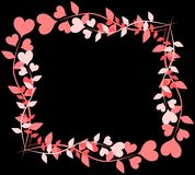 Composition made with hearts on dark background Royalty Free Stock Photo