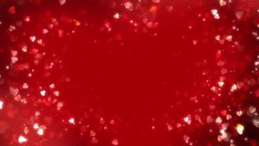 Hearts background loop seamless. This motion graphics video showcases a perfect background for your wedding films and love stories. It showcases a bright red stock footage