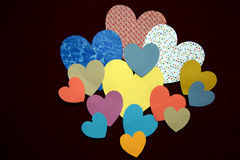 Hearts Background. Many hearts on a plain background royalty free stock image