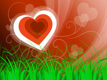Hearts Background Means Beautiful Landscape Or Loving Nature Stock Images