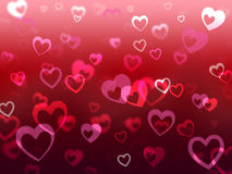 Hearts Background Means Love Adore And Friendship Royalty Free Stock Image