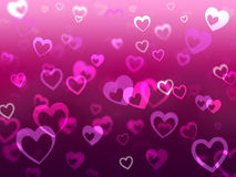 Hearts Background Means Love Romance And Missing Royalty Free Stock Photography