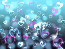 Hearts Background Means Loving Partner Family Or Friends Royalty Free Stock Photo