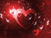 Hearts Background Means Passionate Wallpaper Or Loving Art Royalty Free Stock Photo
