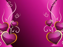 Hearts Background Means Romance  Attraction And Wedding Royalty Free Stock Photography
