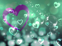 Hearts Background Means Romance Partner And Affection. Hearts Background Meaning Romance Partner And Affection Stock Image