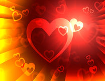 Hearts Background Means Valentines Wallpaper Or Romanticism Royalty Free Stock Photography