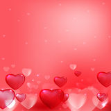 Hearts background pink Royalty Free Stock Images