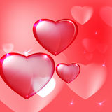 Hearts background pink Stock Photography