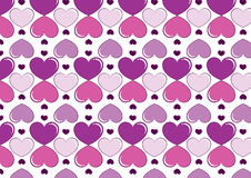 Hearts background in purple. A background composition of hearts in purple Stock Photos
