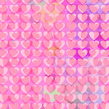 Hearts Background 2. Rows of pink abstract hearts. Vector illustration Stock Image