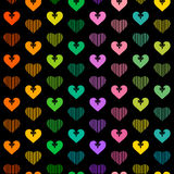 Hearts background. Hearts sample. Valentines day pattern. Vector seamless Stock Photography