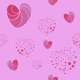 Hearts background seamless pattern.Vector texture. Royalty Free Stock Image