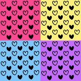 Hearts background set great for any use. Vector EPS10. Heart set great for any use. Vector EPS10 Stock Photos