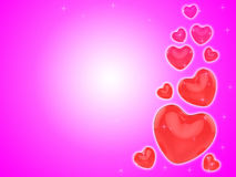Hearts On Background Show Romantic Couple Or Royalty Free Stock Photos