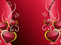 Hearts Background Shows Affection  Attraction And Passion. Hearts Background Showing Affection  Attraction And Passion Stock Images