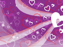 Hearts Background Shows Loving Partner Family And Friends Royalty Free Stock Photo