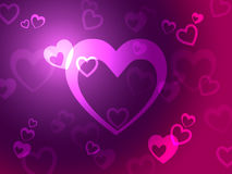 Hearts Background Shows Loving  Romantic And Passionate Royalty Free Stock Image