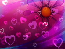 Hearts Background Shows Partner Lover And Significant Other Royalty Free Stock Images