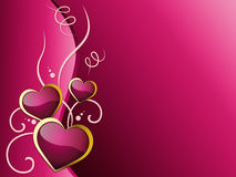 Hearts Background Shows Romantic And Passionate Love Royalty Free Stock Photos