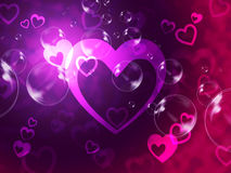 Hearts Background Shows Romantic Relationship And Marriage Royalty Free Stock Photos