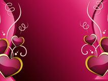 Hearts Background Shows Romantic Wallpaper Or Passionate Love Stock Photos