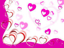 Hearts Background Shows Tenderness Affection And Dear Royalty Free Stock Image