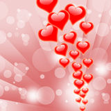 Hearts On Background Shows Valentines Day Or Royalty Free Stock Image
