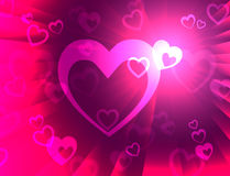 Hearts Background Shows Wedding  Marriage And Anniversary Royalty Free Stock Images